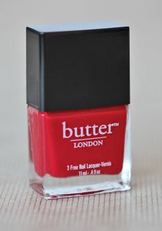 Pillar Box Red Nail Lacquer By Butter London 13.99 at shopruche.com. A classic red nail polish by Butter London. Formaldehyde, toluene, and DBP free. Opaque glossy color.0.4 fl oz