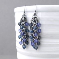 The Shaggy Loops Earrings are one of my signature styles and one of my favorite pairs of earrings to not only create, but wear. Lightweight, elegant and full of movement. The earrings start off with a base of handwoven Sterling Silver chainmail in the Shaggy Loops weave. Wire wrapped