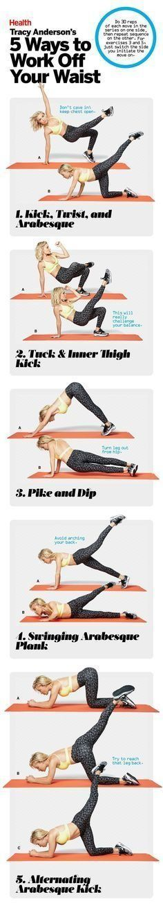 Because Tracy Anderson knows best. Here are 5 of the star trainer's fave exercises to work off your waist. | http://Health.com