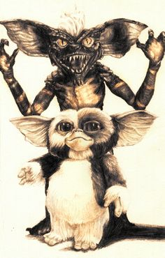 Spike and Gizmo from Gremlinsby aaron bir