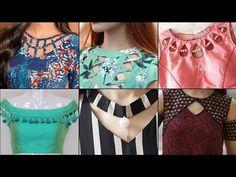 Neck Designs for Kurti & Blouse Churidhar Neck Designs, Salwar Neck Designs, Churidar Designs, Neck Designs For Suits, Kurta Neck Design, Sleeves Designs For Dresses, Neckline Designs, Blouse Neck Designs, Designer Kurtis