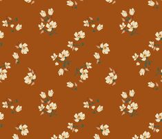 vintage_floral_sienna custom fabric by holli_zollinger for sale on Spoonflower Vintage Paper, Vintage Floral, Pattern Art, Print Patterns, Fabric Design, Print Design, Bird Drawings, Cute Wallpapers, Phone Wallpapers