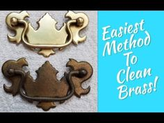 Furniture Hardware, Metal Furniture, Paint Furniture, Repurposed Furniture, Furniture Makeover, Vintage Furniture, How To Polish Brass, How To Clean Copper, Diy Cleaning Products