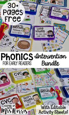 phonics lesson - phonics activities - phonics interventions - phonics games