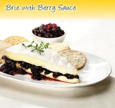 Brie with Berry Sauce