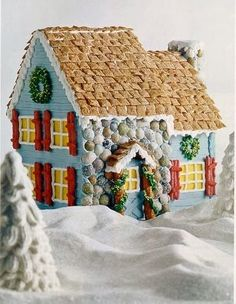 Not your mama's gingerbread house.....