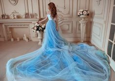 Bohemian Wedding Dress / Two Piece Wedding Dress / Corset Sky | Etsy Two Piece Wedding Dress, Wedding Skirt, Blue Wedding Dresses, Bohemian Wedding Dresses, One Piece Dress, Tulle Wedding, Blue Dresses, Summer Dresses, White Corset Dress