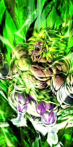 Rui Sonofel's answer to Why is Broly's aura green? Broly Ssj4, Vegito Y Gogeta, Dragon Ball Image, Dragon Ball Gt, Kise Kuroko, Animes Wallpapers, Vampires, Artwork, Neon