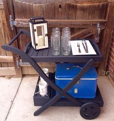 Craigslist Creation | Serving Cart | Handmade With La~La~Love |
