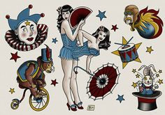 Circus tattoo conjoined twins