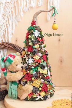 """Купить Елочка """"Мимишка!"""" - тёмно-зелёный, Новый Год, рождество, елка, елка ручной работы"""