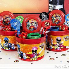 Shop for Power Rangers party supplies, birthday invitations, party favors, decorations, and more. Power Ranger Party, Power Ranger Cupcakes, Power Ranger Birthday, 10th Birthday Parties, Birthday Favors, Boy Birthday, Birthday Ideas, Birthday Cake, Power Rangers