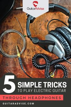 Here are 5 simple tricks to play electric guitar through headphones Guitar Amp, Acoustic Guitar, Amp Settings, Digital Audio Workstation, Backing Tracks, Classical Guitar, Band Merch, Types Of Music, Music Lessons
