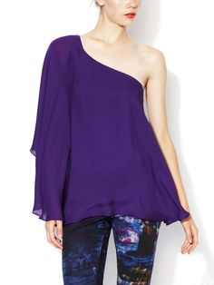 Howell Silk Draped One Shoulder Blouse from Early Access: Jay Godfrey on Gilt