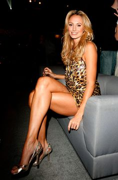 ♠ Stacy Keibler #Celebrities - wow in animal print..j