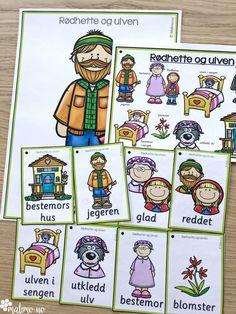Støttemateriell for å arbeide med eventyr som tema, med fokus på språkopplæring i samme slengen! Eventyr er alltid gøy, og bakt inn i det kan man arbeide med bokstaver og lyder, stavelser, alfabetisering, silhuett-oppgaver som gir elevene trening i bokstavenes plassering, rimord. Eventyrene er: Hans og Grete, De tre bukkene bruse, Rødhette, Jack og bønnestengelen, Den lille røde høna, Gullhår og de tre bjørnene, Keiserens nye klær, Prinsessen på erten, Tre små griser, Askepott og flere! Playing Cards, Barn, Teaching, Education, Comics, Converted Barn, Barns, Comic Book, Cartoons