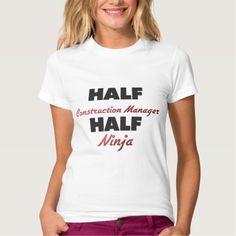 Half Construction Manager Half Ninja T Shirt, Hoodie Sweatshirt