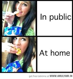 Girls in home and public