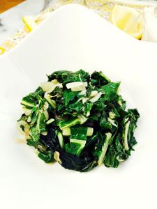 Sauteed Chard with Lemon, Garlic and Shallots, super easy and oh so delicious, by Lazy Girl Dinners #lowcarb #glutenfree #paleo #vegan #healthyrecipes
