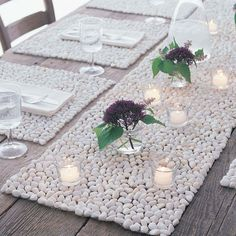 Beach Pebbles Stone Runner   Three Colors!