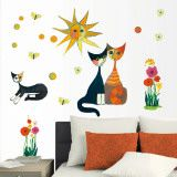 Colourful Cat's Life Wall Decal