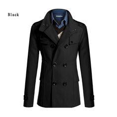 2015 winter UK style long trench coat men casual men's windbreaker fashion jacket men trench coat men outwear ZMS08-in Jackets from Men's Clothing & Accessories on Aliexpress.com   Alibaba Group