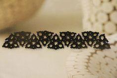 Tatting lace bracelet / doily pdf pattern (Scandi Retro)
