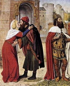 Meeting at the Golden Gate, c. 1488 by Jean Hey ( St. Joachim and St. Anne)