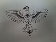 New tattoo Today tattoo thunderbird drew by my friend artist Whitney