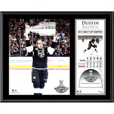 "Dustin Brown Los Angeles Kings Fanatics Authentic 12"" x 15"" 2014 Stanley Cup Champions Sublimated Plaque with Game-Used Ice-Limited Edition of 250 - $47.99"