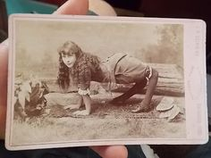 Cabinet Photo Cute Circus Freak Young Girl Double Jointed Legs New York   eBay