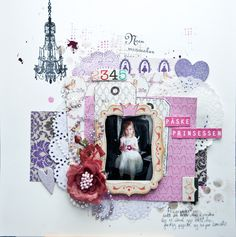 I have borrowed Christins style making this layout. All papers and most of the embellishments are from Papirdesign
