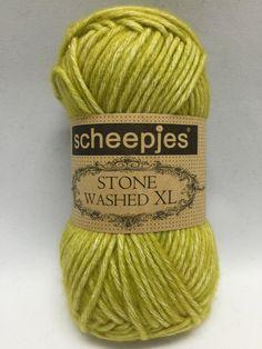 Sheepjes Stone Washed XL, Lemon Quartz, 852, Yellow Yarn, yarn, Cotton Yarn, Chartreuse by GoodFiberYarns on Etsy https://www.etsy.com/listing/262254201/sheepjes-stone-washed-xl-lemon-quartz