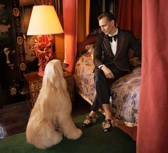 British actor Tom Hiddleston is the newest face of Gucci's Cruise 2017 tailoring ad campaign. The campaign was shot at American artist Tony Duquette's Dawnridge Estate in Los Angeles by Glen Luchford and styled by Joe McKenna.