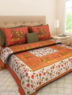 Bedsheets Siya Designer 100% Cotton Printed Double Bedsheets Siya Designer 100% Cotton Printed Double Bedsheets Country of Origin: India Sizes Available: Queen, King   Catalog Rating: ★4.1 (1012)  Catalog Name: New Siya Designer 100% Cotton Printed Double Bedsheets Vol 15 CatalogID_538724 C53-SC1101 Code: 053-3836647-387