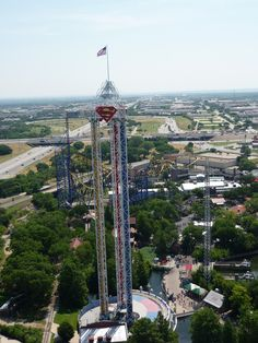 6 flags <3 ride; superman <3 (; wish i could ride all the rides BUCKETLIST BITCHES!!!