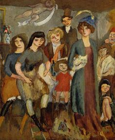 huariqueje: The Turkish Family - Jules Pascin The Turkish Family - Jules Pascin 1907 Bulgarian 1885-1930