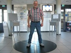 Hans Hover has one foot in Germany, and one in the Netherlands.