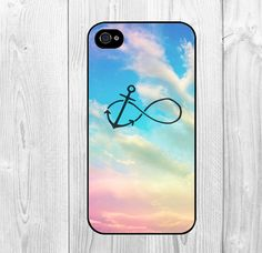 Cool Infinity Anchor Rainbow Galaxy Sky Pattern iPhone Case