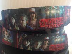 1 yard 1inch NEW Stranger Things Grosgrain Ribbon - Comic Bow Making Ribbon - Cosplay Grosgrain Ribbon - 22 mm TV Show by DCompanySupply on Etsy