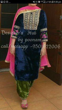 To order this dress pls call or watsapp on my no. Embroidery Suits Punjabi, Embroidery Suits Design, Lehenga, Anarkali, Churidar, Patiala, Kurti, Punjabi Fashion, Indian Fashion