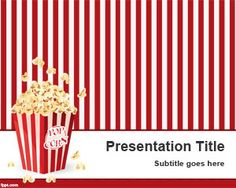 Pop Corn PowerPoint template is a funny PPT template slide design with pop corn illustration