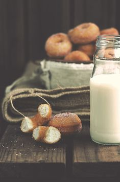 Condensed milk doughnuts