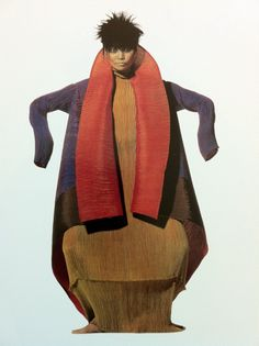 Issey Miyake by Irving Penn 1995. I love this designer's work, and this almost reminds me of a Fauvist painting. Fashion and fantasy= fabulous!