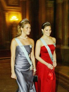 Crown Princess Victoria & Princess Madeleine of Sweden