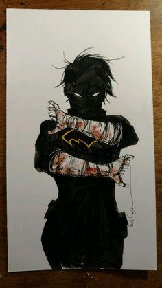 Dustin Nguyen (Batman) Original Cass Cain art +free 2016 80p artbook NO RESERVE Comic Art Auction