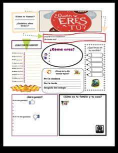 e2a438da8 Get to know your Spanish students AND assess how much they remember from the  previous year
