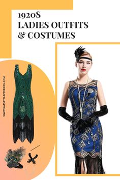 Looking for the perfect outfit for your next themed party? Looking no further - you will love all our glamorous 1920s Ladies dresses! Click to see them all