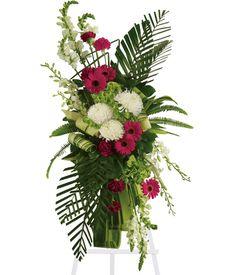 Elegant Funeral Sprays | Gerberas and Palms Spray