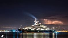 Photographer Julien Hubert snapped this photo of the superyacht Al Mirqab.